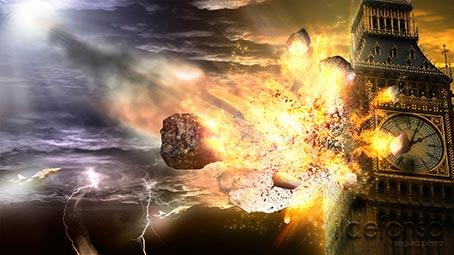 Lee más sobre el artículo Tutorial Photoshop // Wallpaper adios Big Ben (Meteorito en Londres)