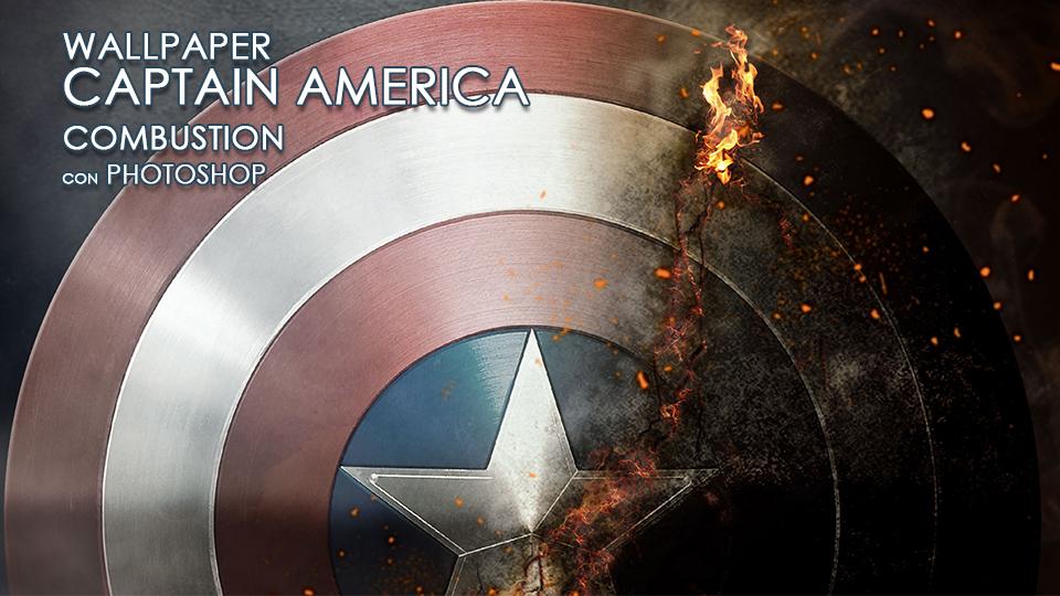 CAPTAIN AMERICA BURNING SHIELD