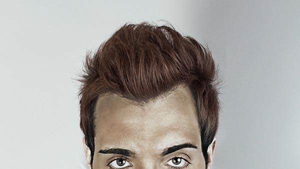 Reconstrucción de cabello después de recortar con tampón de clonar en Photoshop