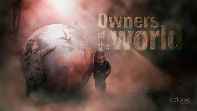 Lee más sobre el artículo Wallpaper owner of the world (crea una bola del mundo con Photoshop)