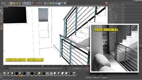 Ejemplo de modelado con Cinema4D