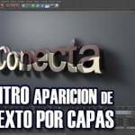 Intro aparición de texto con capas (Cinema4D)