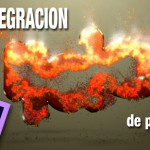 Crea desintegraciones distintas con un emisor de particulas en #Ae by @ildefonsosegura