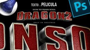 Lee más sobre el artículo Tutorial #Cinema4d y  #PhotoshopCC // #Wallpaper texto 3D estilo como entrenar tu dragón 2 by @ildefonsosegura