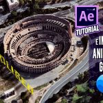 Tutorial After Effects integración de texto e imágenes en animación creada con Google Earth Studio by @ildefonsosegura