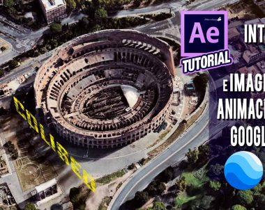 Tutorial After Effects integración de texto e imágenes en animación creada con Google Earth Studio by @ildefonsosegura