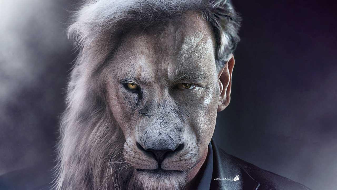 Tutorial Photoshop // Fotomanipulación hombre con cara de león