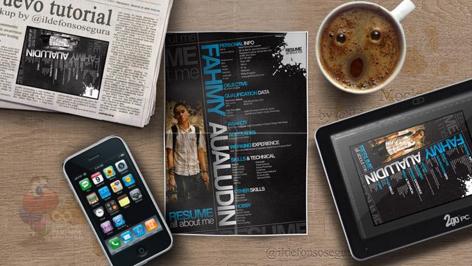 Tutorial Photoshop // Haz tu propio Mockup de papel doblado by @ildefonsosegura