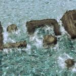 Creación de textura de oceano y texto de roca en cinema4D