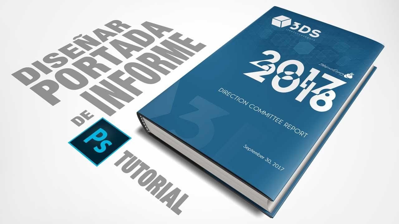 Tutorial Photoshop // diseña una portada de informe by @ildefonsosegura