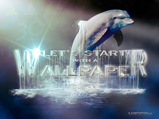 Lee más sobre el artículo Tutorial Photoshop // Wallpaper delfín nocturno