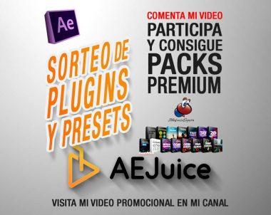GRATIS Plugins y Presets de After Effects con AEJuice + Sorteo