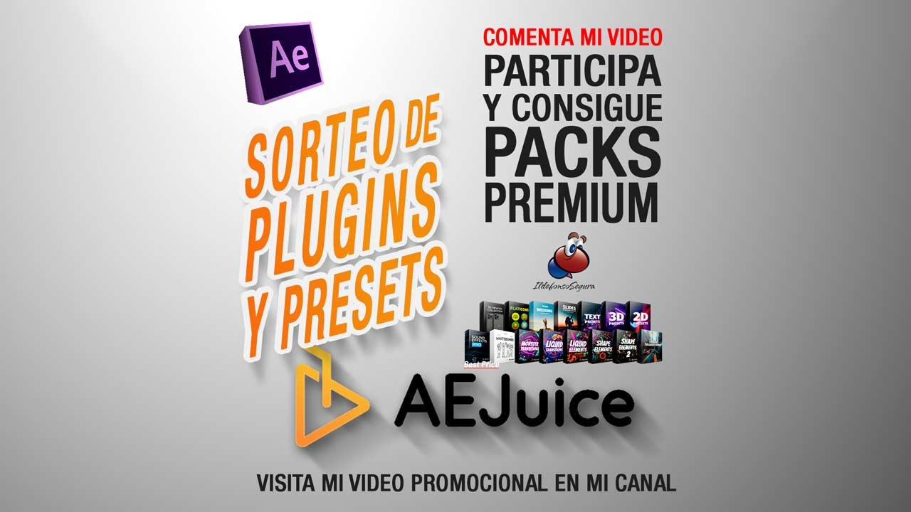 GRATIS Plugins y Presets de After Effects con AEJuice + Sorteo