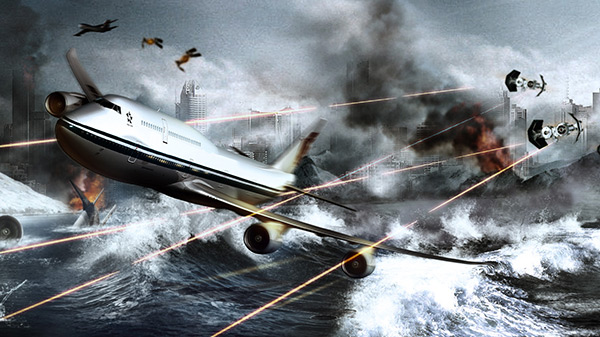 Tutorial #photoshopCC wallpaper ataque al Boeing 747 by @ildefonsosegura