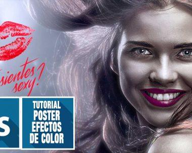 Crea un poster con trucos de luz y color con #photoshop by @ildefonsosegura