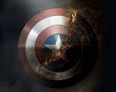 Efecto combustión en el  escudo Capitán América con #Photoshop by @ildefonsosegura