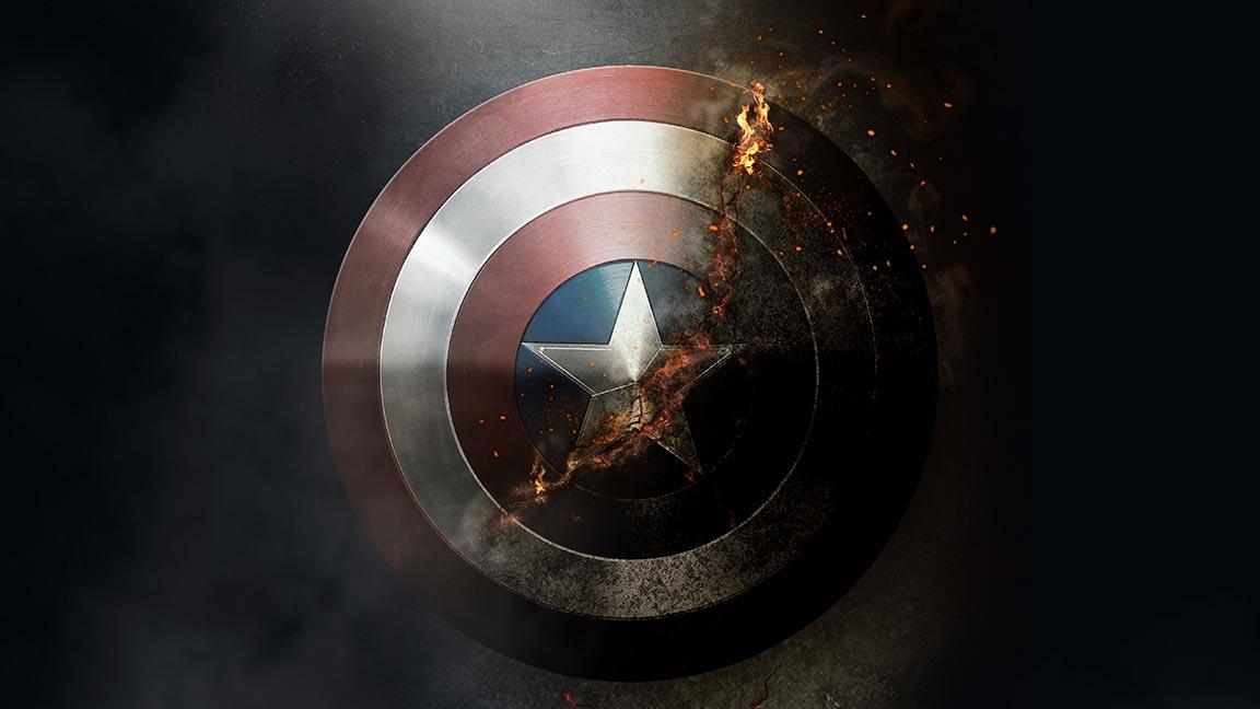 Lee más sobre el artículo Efecto combustión en el  escudo Capitán América con #Photoshop by @ildefonsosegura