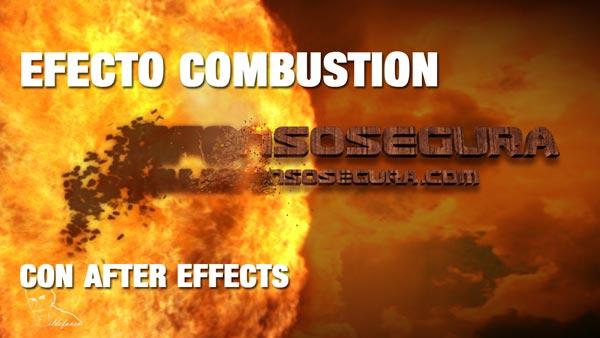 En este momento estás viendo Efecto combustión con After Effects