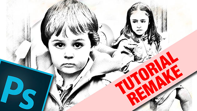 Tutorial photoshop remake convertir foto a dibujo by @ildefonsosegura