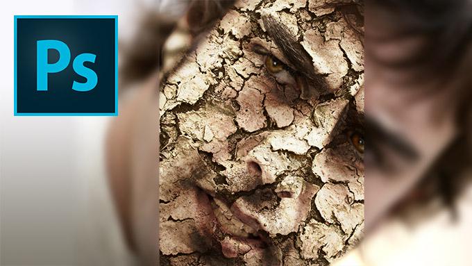 Lee más sobre el artículo Tutorial Photoshop // Efecto de cara de barro seco by @ildefonsosegura (Dry Mud Effect)