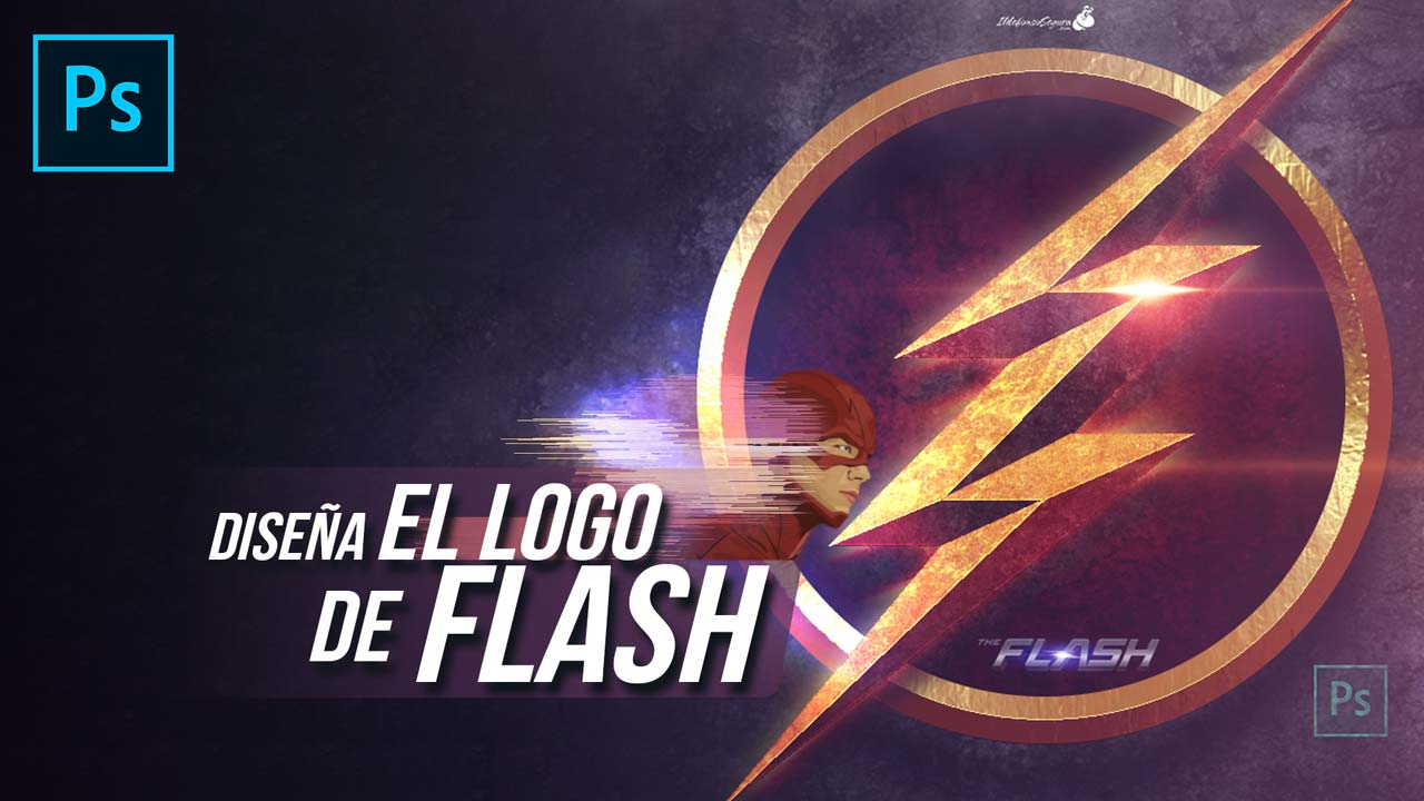 Logo de Flash desde cero con Photoshop by @ildefonsosegura