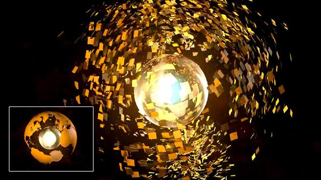 Intro formación de planeta con #cinema4D by @ildefonsosegura