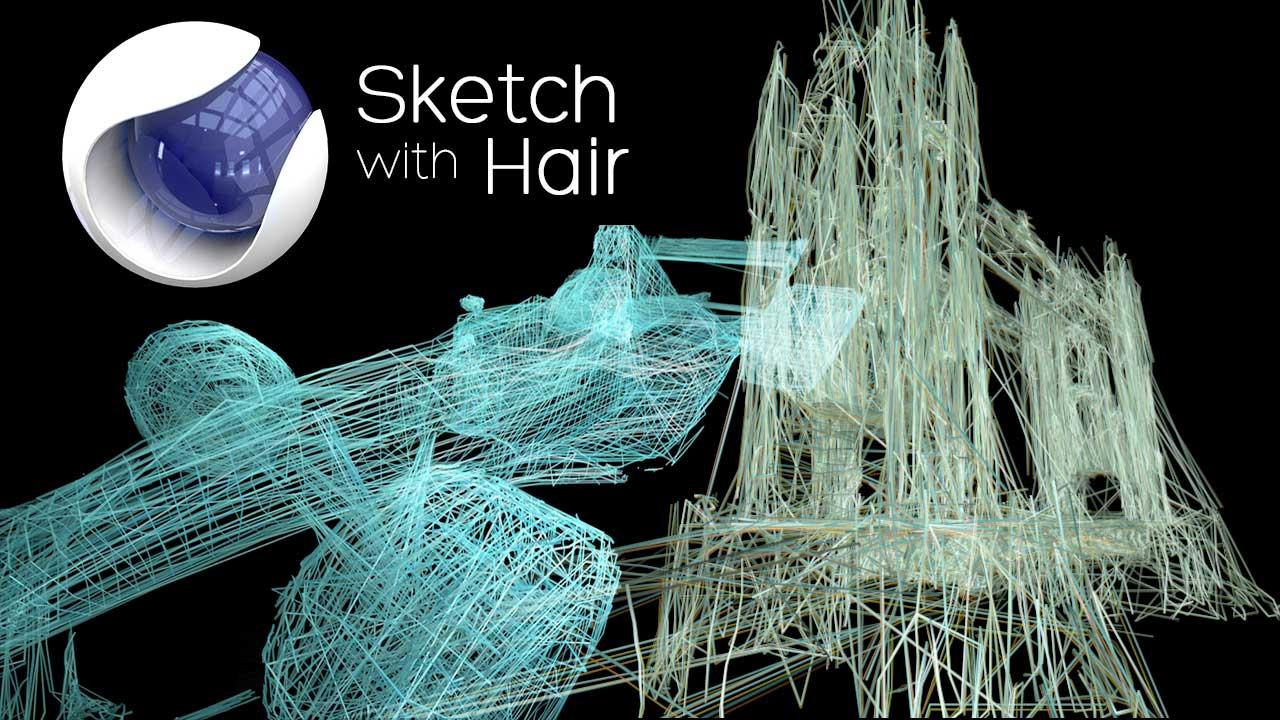 Dinámica de pelo con splines en #cinema4d by @ildefonsosegura
