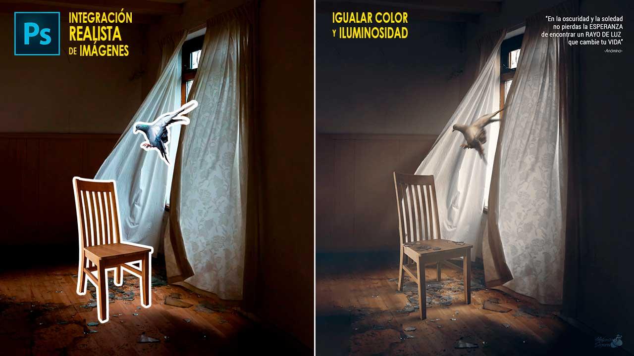 Integrar objetos en una fotografía igualando luminosidad y color con Photoshop