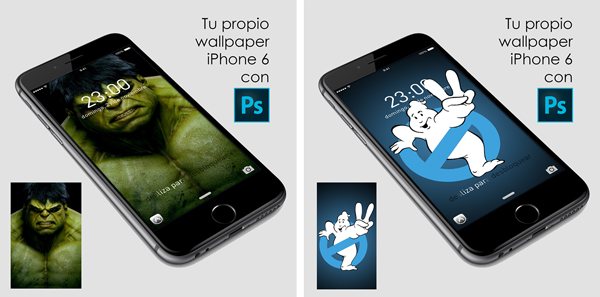 Crea tu fondo para iphone 6 y mockup con #photoshop by @ildefonsosegura