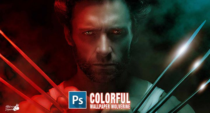 Iluminación de colores realista wallpaper Wolverine // tutorial Photoshop by @ildefonsosegura
