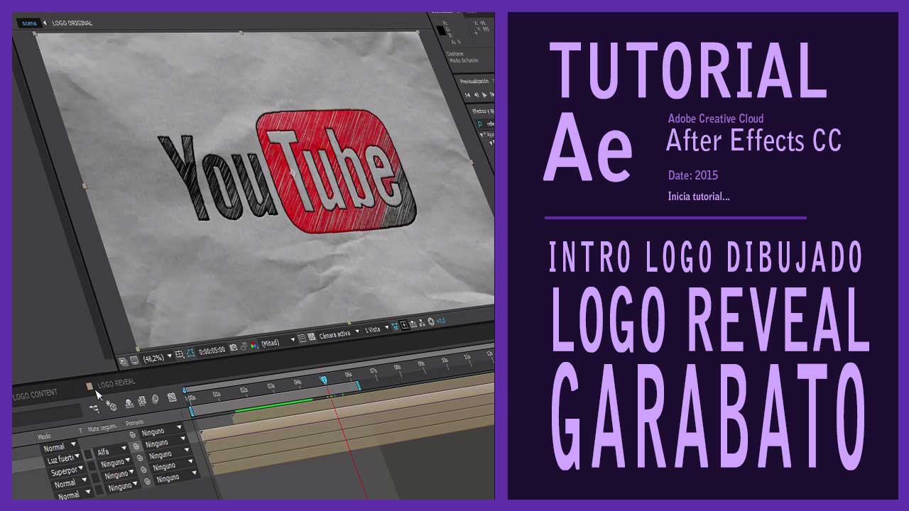 Tutorial y Editable After Effects intro logo dibujado by @ildefonsosegura