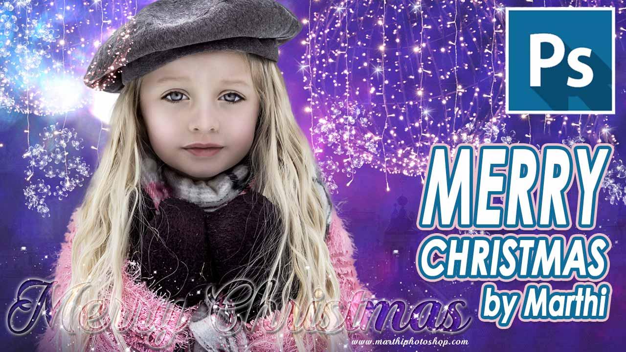 En este momento estás viendo Tarjeta de navidad by @marthi06 // Tutorial Photoshop