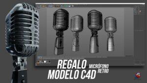 Lee más sobre el artículo Regalo modelo 3D – micrófono retro – Gratis