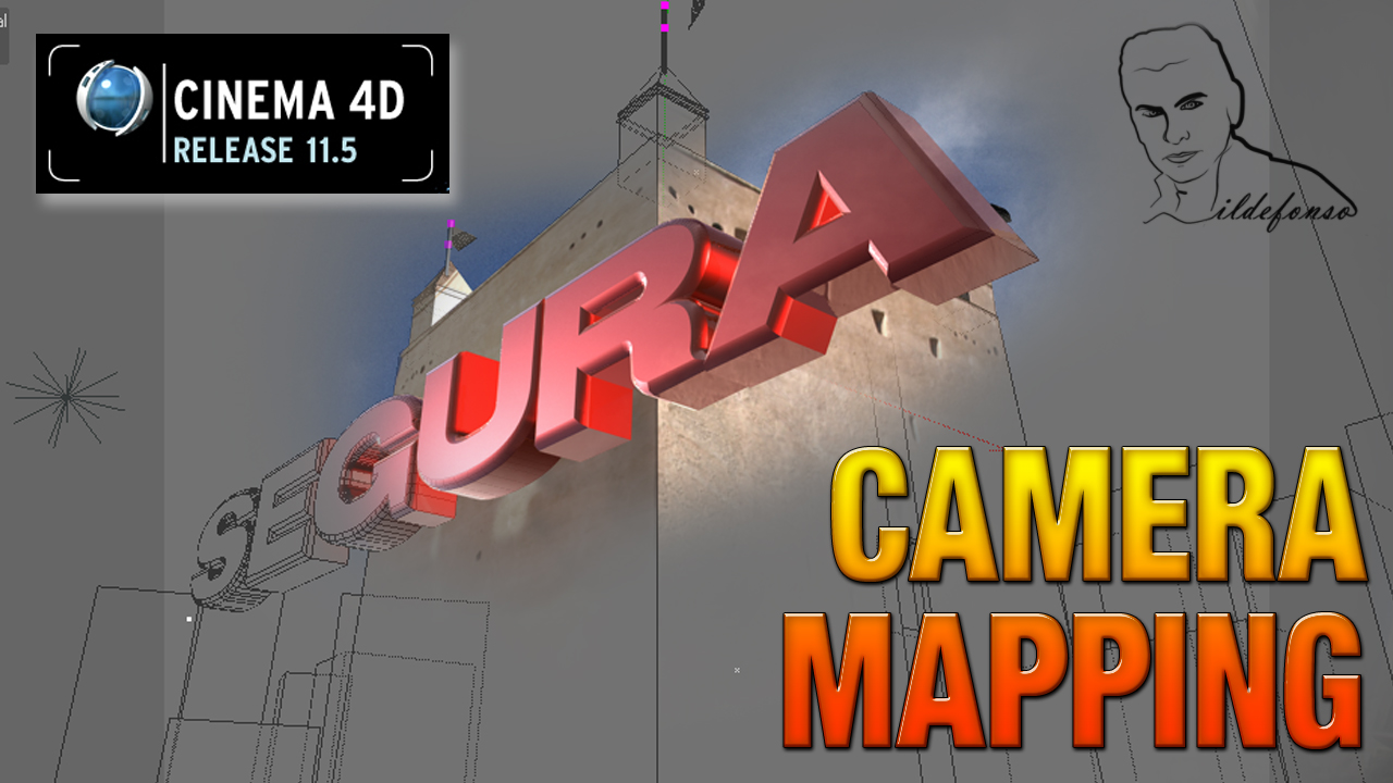 Tutorial Cinema 4D // Aprendemos a realizar un CAMERA MAPPING
