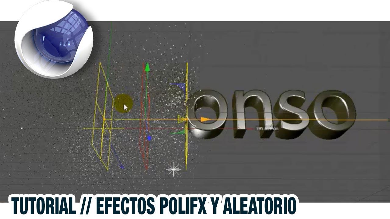 Efecto polifx y aleatorio en una intro en Cinema4D