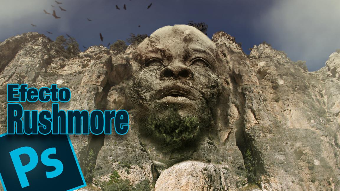 #Tutorial #Photoshop efecto monte rushmore (cabeza integrada en montaña) by @ildefonsosegura