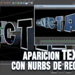 Intro  con aparición de texto 3D de cristal usando nurbs de recorrido con Cinema4D