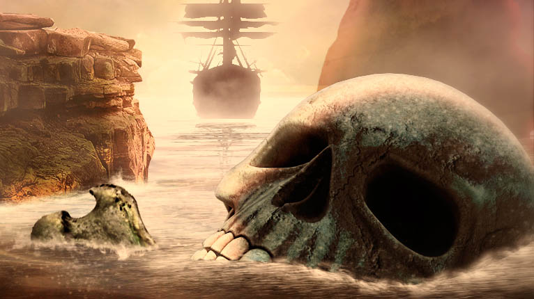 "Speedart #photoshop #wallpaper ""Pirates in anywhere"" by @ildefonsosegura"