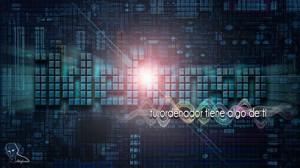 Lee más sobre el artículo Tutorial Photoshop // Texto microchip (Wallpaper)