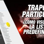 Tutorial #AfterEffects: visualizar lista desplegable presets trapcode particular by @ildefonsosegura