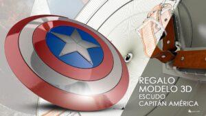 Lee más sobre el artículo Escudo del Capitán América. Regalo modelo 3D