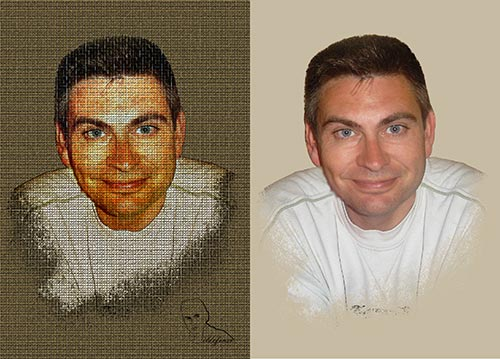 Realiza una pintura en textura de lienzo con Photoshop