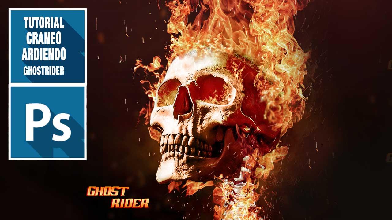 En este momento estás viendo Haz un cráneo en llamas con #Photoshop (#ghostrider) by @ildefonsosegura