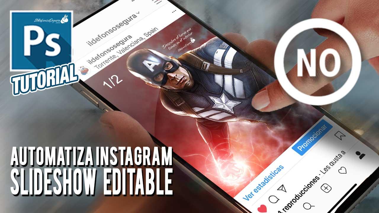 Como dejar de usar el dedo para pasar fotos en instagram con Photoshop