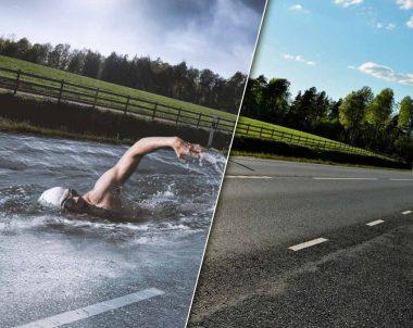 Fotomontaje nadando en una carretera Tutorial Photoshop by @ildefonsosegura