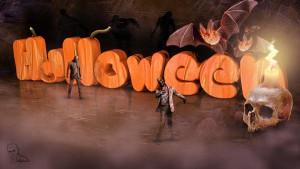 Lee más sobre el artículo Texto con textura de calabaza  con Cinema4D y Photoshop (Wallpaper halloween)