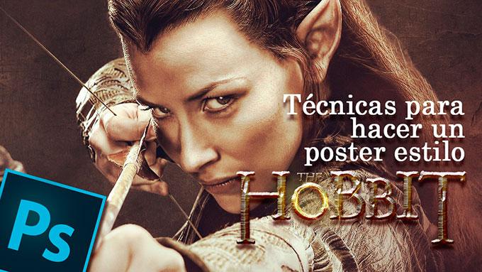 #tutorial #photoshop póster de película estilo El Hobbit by @ildefonsosegura