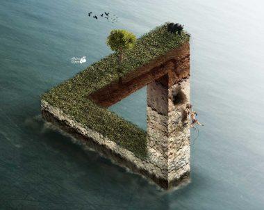 Montaje triangulo imposible con Photoshop by @ildefonsosegura