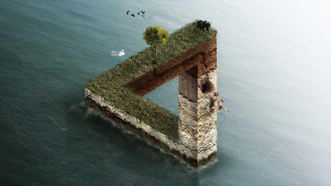 Lee más sobre el artículo Montaje triangulo imposible con Photoshop by @ildefonsosegura